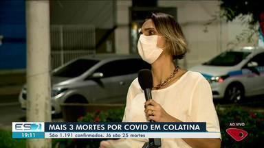 Colatina confirma mais 3 mortes por Covid-19 e 30 profissionais de saúde estão afastados - Veja na reportagem.