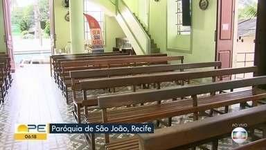 Paróquia dedicada a São João tem celebração especial no Recife - Missa solene é realizada no bairro do Sancho.