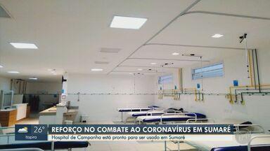 Sumaré prepara Hospital de Campanha em unidade desativada no Nova Veneza - Segundo a prefeitura, a estrutura da cidade está conseguindo lidar com os casos, mas o Hospital de Campanha foi montado para uma possível lotação dos leitos das unidades de saúde.