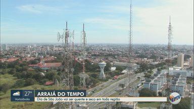 Previsão do tempo mostra altas temperaturas e baixa umidade do ar na região de Campinas - A temperatura máxima prevista para Campinas é de 26ºC nesta quarta-feira (24).