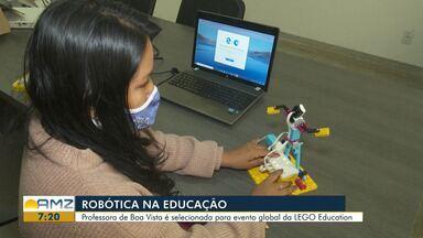 Professora de Boa Vista é selecionada para evento global da LEGO Education - No Brasil, apenas 50 foram selecionados.