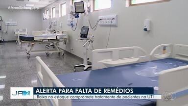 Hospitais de Goiânia estão com problemas de estoque de anestésicos e sedativos - Medicamentos são usados em pacientes que precisam de intubação.