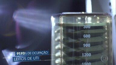 Ocupação de leitos de UTI em Minas Gerais ultrapassa os 90% - Dados da secretaria de saúde mostram que 5 das 14 macrorregiões do estado estão em situação crítica.