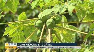Horta orgânica alimenta pacientes e colaboradores do Hospital Regional - Saiba mais sobre o projeto sustentável.