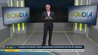 Mais cidades anunciam o lockdown pra evitar o avanço da Covid-19 - Em Matelândia, Medianeira e Itapulândia, apenas serviços essenciais vão funcionar