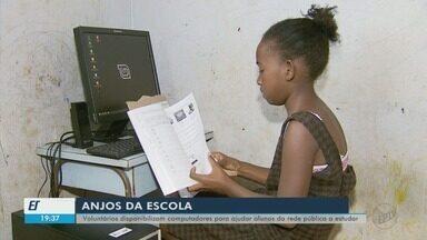 Voluntários doam computadores e instalam internet para garantir aulas online a estudantes - Voluntários doam computadores e instalam internet para garantir aulas online a estudantes de MG