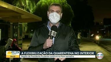 A flexibilização da quarentena no interior - A situação em Presidente Prudente e Rio Preto.