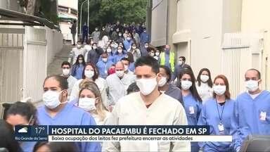 Hospital de campanha do Pacaembu encerra atividades - A baixa ocupação dos leitos fez a prefeitura de São Paulo encerrar as atividades.