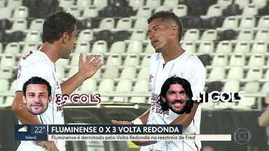 Na reestreia de Fred, Flu perde para o Volta Redonda e cede liderança do Carioca ao Fla - Na reestreia de Fred, Flu perde para o Volta Redonda e cede liderança do Carioca ao Fla