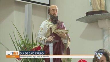 Pariquera-Açú adapta comemoração do dia do padroeiro durante pandemia - Comemoração do dia de São Paulo, santo padroeiro da cidade, precisou ser adaptada.