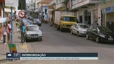 Número de casos de Covid-19 aumentam em cidades do interior de MG - Número de casos de Covid-19 aumentam em cidades do interior de MG