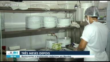 Restaurantes e lanchonetes voltam a funcionar em Marabá, durante pandemia de Covid-19 - Restaurantes e lanchonetes voltam a funcionar em Marabá, durante pandemia de Covid-19