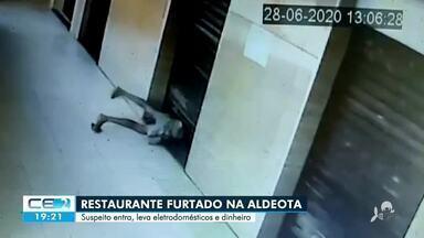 Câmera flagra furto em restaurante na Aldeota - Saiba mais em g1.com.br/ce