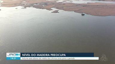 Nível do rio Madeira está abaixo da média estimada para o período - Baixo nível do rio apresenta riscos à navegação