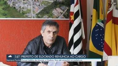 Prefeito de Eldorado renuncia o cargo - Durval Adélio de Morais, o Vadico, fica até esta terça-feira na prefeitura.