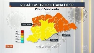 SP e outras 15 cidades entram na fase amarela do plano de flexibilização do governo - A reabertura de bares, restaurantes, salões de beleza ficou para segunda-feira da semana que vem.