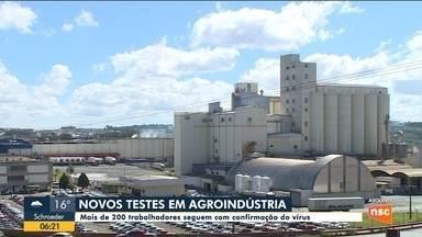 Agroindústria do Oeste de SC aplica novos testes e confirma 200 trabalhadores com Covid-19 - Agroindústria do Oeste de SC aplica novos testes e confirma 200 trabalhadores com Covid-19
