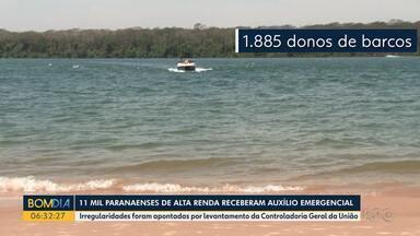 11 mil paranaenses de alta renda receberam auxílio emergencial - Irregularidades foram apontadas por levantamento da Controladoria Geral da União.