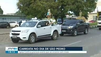 Igreja Católica promove carreata em celebração ao dia de São Pedro - Ao final do percurso será realizado uma missa.