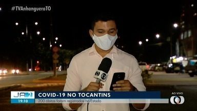 Covid-19: número de mortos pela doença no Tocantins chega a 200 - Covid-19: número de mortos pela doença no Tocantins chega a 200