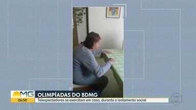 """Veja as imagens das """"Olimpíadas do Bom Dia Minas"""" - Telespectadores se exercitam em casa, durante o isolamento social"""