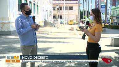 Prefeitura de Cachoeiro de Itapemirim prorroga prazo de fechamento de bares e praças, ES - Aulas também continuam suspensas.