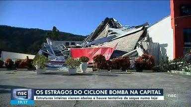 Após ciclone bomba, moradores tentam reconstruir estruturas na capital - Após ciclone bomba, moradores tentam reconstruir estruturas na capital