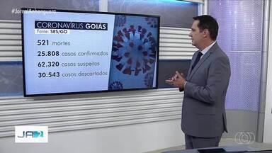 Goiás registra 521 mortes por coronavírus, segundo governo - Estado tem 25.808 casos confirmados.
