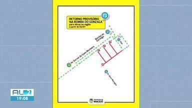Contorno na Bomba do Gonzaga será interditado por 15 dias - Bloqueio é para realização de obras de esgotamento sanitário.