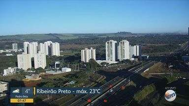 Confira a previsão do tempo para esta quinta-feira (2) em Ribeirão Preto e região - Temperatura deve chegar aos 23º C.