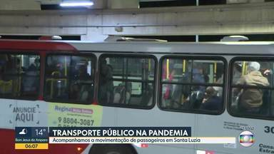 Bom Dia acompanhou a movimentação de passageiros em Santa Luzia - Usuários enfrentam estação cheia.