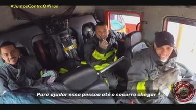 Bombeiros criam música para ensinar técnicas de salvamento em Canoas - Assista ao vídeo.