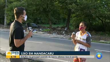 Entulho no bairro de Mandacaru, em JP, oferece risco à saúde dos moradores - Confira os detalhes com o repórter Ítalo Di Lucena.