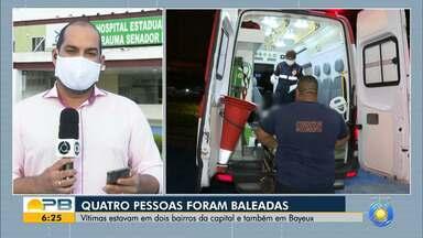 Quatro pessoas são baleadas em uma noite, na Grande João Pessoa - Uma das vítimas morreu e outras permanecem internado no Hospital de Trauma e em um hospital particular da capital.