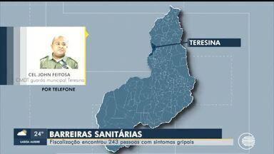 Guarda Municipal de Teresina montam barreiras sanitárias para abordar motoristas - Guarda Municipal de Teresina montam barreiras sanitárias para abordar motoristas