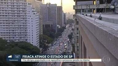 Estado de São Paulo registra temperaturas baixas durante a madrugada - Friaca derrubou os termômetros em várias cidades. Na capital, moradores em situação de rua contaram com a ajuda de doações.