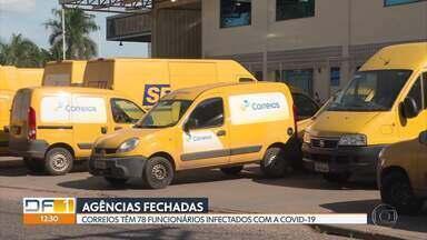 Covid-19 afeta atendimento dos Correios - Dois centros de distribuição de encomendas de Taguatinga chegaram a ficar fechados. Funcionários denunciam falta de desinfecção e de equipamentos de proteção. Pelo menos 78 funcionários da empresa estão contaminados com a doença.