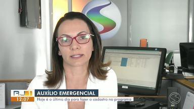 Cadastro para auxílio emergencial encerra nesta quinta-feira - Governo Federal está oferecendo ajuda para a população durante a pandemia.