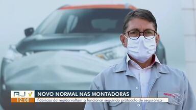 Montadoras do Sul do Rio reabrem seguindo protocolo de segurança - Fábricas ficaram fechadas durante o período de isolamento social por causa da pandemia do novo coronavírus.