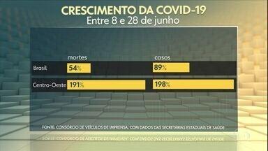 Covid-19: mortes e casos crescem no Centro-Oeste bem acima da média nacional - Onde de transmissão começou no Mato Grosso e se espalhou pela região.
