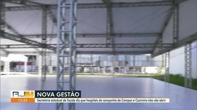 Hospitais de campanha de Campos e Casimiro de Abreu não serão mais entregues - O novo secretário de estado de saúde, Alex Bousquet, anunciou em coletiva nesta quarta-feira (1º) que o governo desistiu de concluir os dois hospitais de campanha.