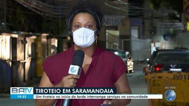 Tiroteio causa suspensão de serviços e funcionamento de lojas no bairro de Saramandaia - Moradores estão assustados com a falta de segurança no local.