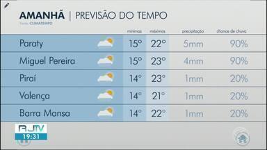 Meteorologia prevê aumento de nebulosidade nesta sexta-feira no Sul do Rio - Marinha emitiu alerta sobre ondas de até quatro metros no litoral.