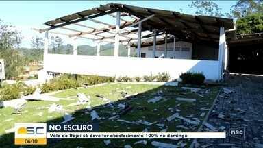 Abastecimento de energia no Vale do Itajaí deve ser normalizado no fim de semana - Abastecimento de energia no Vale do Itajaí deve ser normalizado no fim de semana