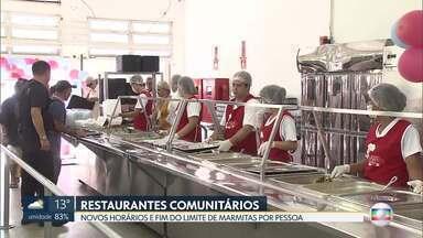 Restaurantes comunitários fazem cardápio especial para inverno - Também não há mais limite para compra de marmitas.