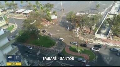 Ventania intensa foi registrada na Baixada Santista - Fenômenos nos últimos dias mudaram o cenário da região.