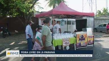 Feira livre é proibida de funcionar em Ji-Paraná - Cidade também voltou à fase 1 do decreto estadual, e vigilância sanitária divulgou uma portaria proibindo.