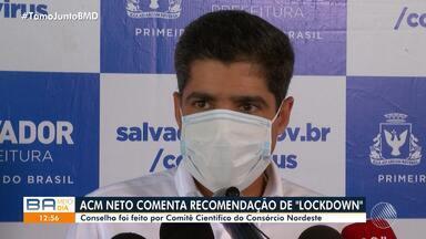 ACM Neto comenta recomendação do Consórcio Nordeste sobre 'lockdown' em Salvador - O prefeito afirmou que ainda não há necessidade de adotar a medida na capital.