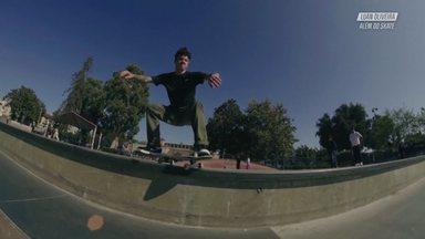 Com Os Amigos Em Long Beach - Luan vai andar na pista Stoner Skate Plaza. Luan faz um treino de boxe com seu amigo Rafael Xavier e depois encontra o brasileiro Carlos Ribeiro e juntos vão andar de skate no centro de Los Angeles.
