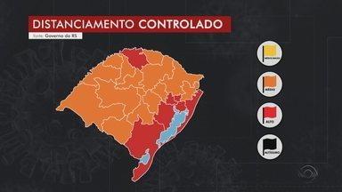 Após recurso, Caxias do Sul, Taquara, Erechim e Passo Fundo se mantêm na bandeira laranja - Outras seis macrorregiões ficam na bandeira vermelha no mapa do distanciamento controlado. Nessas regiões, 87 municípios podem adotar protocolos menos restritivos.